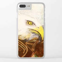 The eagle's spirit Clear iPhone Case