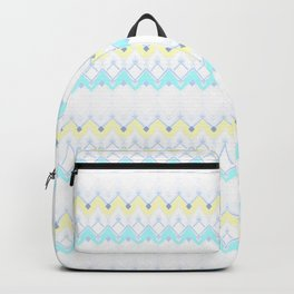 Folk pastel colors print with ornament Backpack