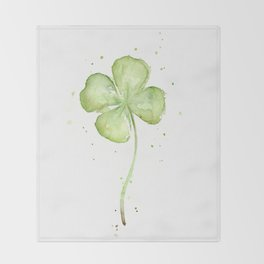 Four Leaf Clover Throw Blanket