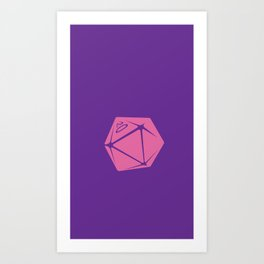 Purple and Pink D20 Phone Case Art Print