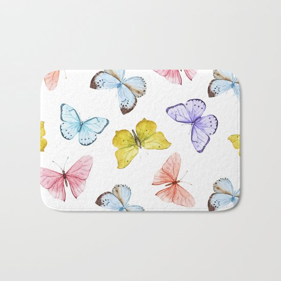 Butterfly Pattern 04 Bath Mat