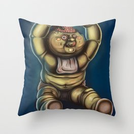 Tubby Zombie Throw Pillow
