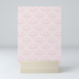 Bohemian Scallops - Lilac Mini Art Print