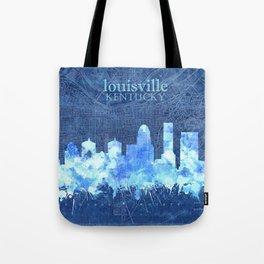 louisville skyline vintage blue Tote Bag
