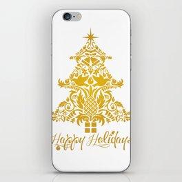 Ornate Pineapple Holiday Tree iPhone Skin