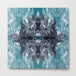 Horse skull pattern blue Metal Print