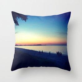Lake Erie Sunset Throw Pillow