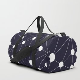Abstract Network on Navy Duffle Bag