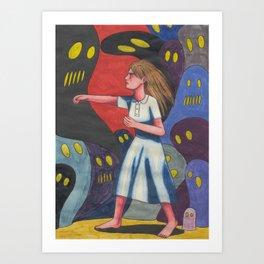 Fighting Ghosts Art Print