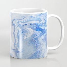 Wintry Fairy Land: Acrylic Pour Painting Coffee Mug