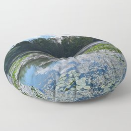 Lake With Lily Pads Floor Pillow