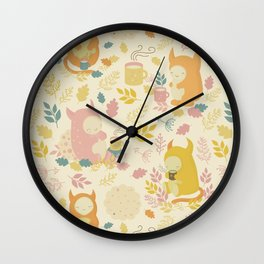 Fairytale Pattern Wall Clock