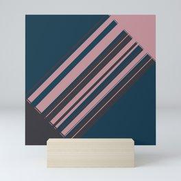 Rose stripes Mini Art Print