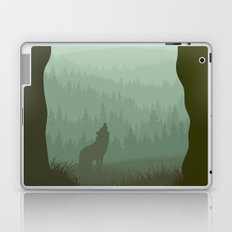 Wolf layer with moon Laptop & iPad Skin