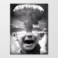 war Canvas Prints featuring War by Cash Mattock