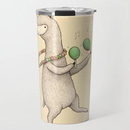 Alpaca on Maracas Travel Mug