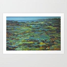 Tide Pools on the Horizon Art Print