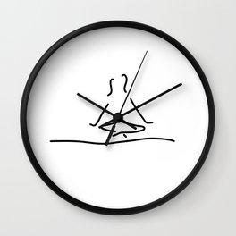 yoga joga meditation Wall Clock