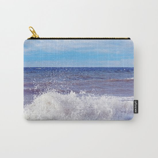 Wave Crashing onto the Beach Carry-All Pouch