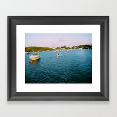Out At Sea | Sail boats | Bermuda Framed Art Print