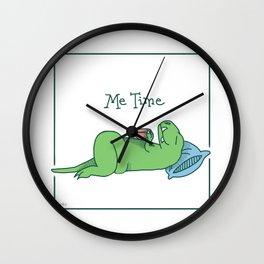 Me Time Tea Time T-Rex Wall Clock