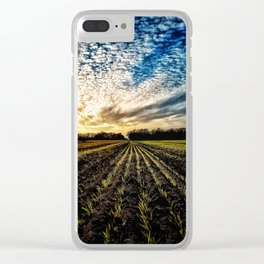Crop Row Glory Clear iPhone Case