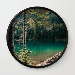 Lake 22 in the Cascade Mountains Wall Clock