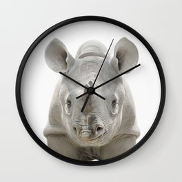 Baby Rhinoceros Wall Clock