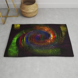 Concept abstract : The way of colours Rug