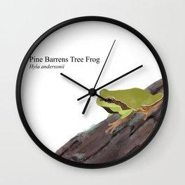 Pine Barrens Tree Frog (Hyla andersonii) on Pitch Pine Log Wall Clock