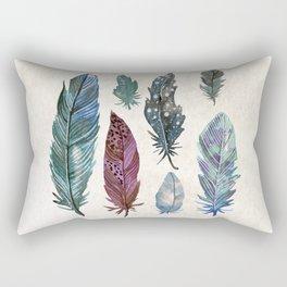 Watercolor Feathers I Rectangular Pillow