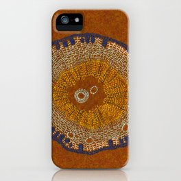 Growing - ginkgo - embroidery based on plant cell under the microscope iPhone Case