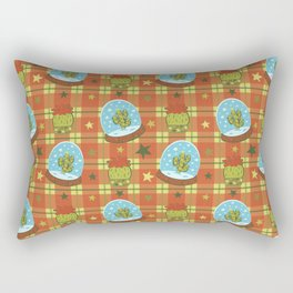 Cactus in a Snow Globe Rectangular Pillow