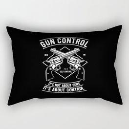 Gun Control Rectangular Pillow