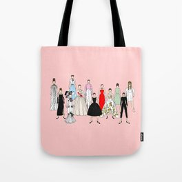 Audrey Hepburn Think Pink Outfits Fashion Tote Bag