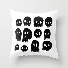 Spooky Skulls Throw Pillow