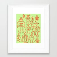 robots Framed Art Prints featuring Robots! by Paul McCreery