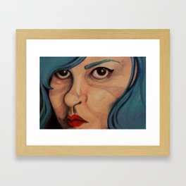 All Angsty Teens Dye Their Hair Blue  Framed Art Print
