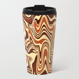 Brown Marble Travel Mug