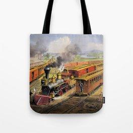 American Railroad Scene (Currier & Ives) Tote Bag