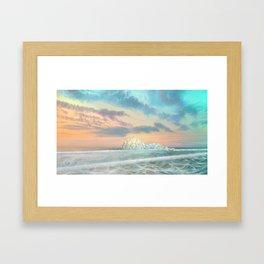 Frozen waves Framed Art Print