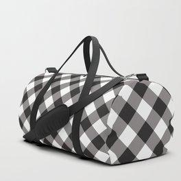 Gingham - Black Duffle Bag