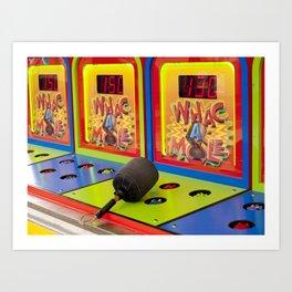 Whac-A-Mole Art Print