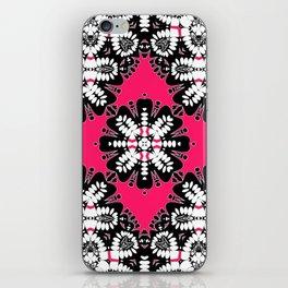 Geometric Tribal Hot Pink & Black iPhone Skin