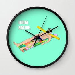 Local Native - Music Inspired Fan Cliche Digital Art Wall Clock