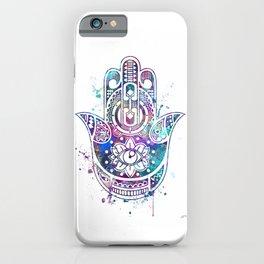 Hamsa Hand Colorful Watercolor iPhone Case