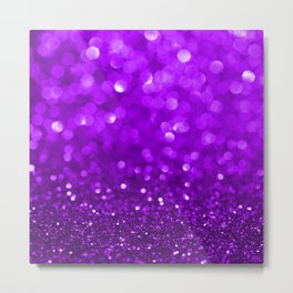 Purple disco glitter and sparkles Metal Print