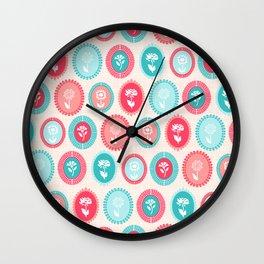 Kitsch Cameo Flora Wall Clock