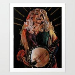 The Ecstasy of Dolly Parton Art Print