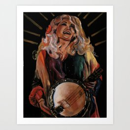 The Ecstasy of Dolly Parton Art Print